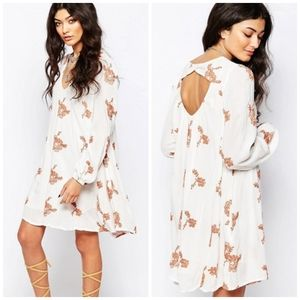 Free People ∆ Emma Printed Embroidered Dress